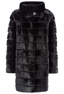 Норковая шуба с воротником-стойкой Gata Fur