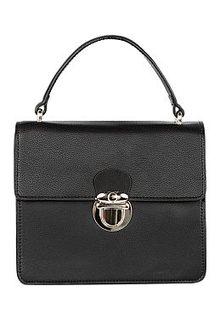 Черная кожаная сумка с клапаном La Reine Blanche