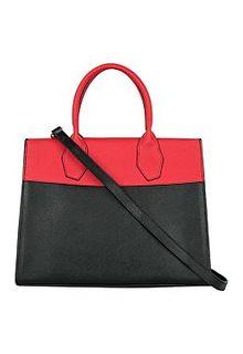 Комбинированная сумка из натуральной кожи La Reine Blanche