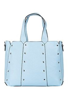 Голубая сумка из натуральной кожи La Reine Blanche