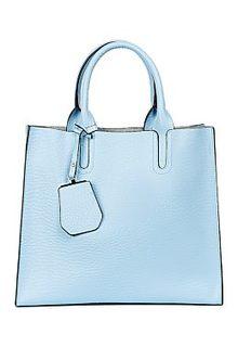 Голубая кожаная сумка La Reine Blanche