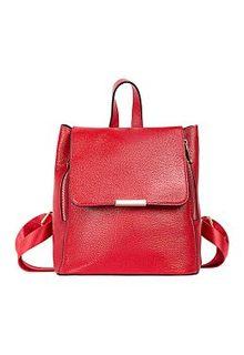 Красный кожаный рюкзак La Reine Blanche