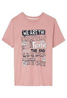 Розовая футболка с принтом Al Franco