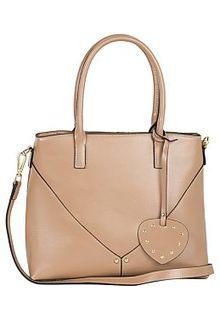 Бежевая сумка из натуральной кожи La Reine Blanche