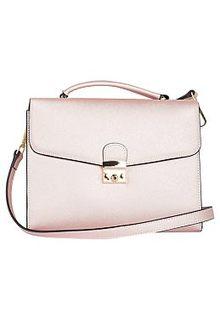 Розовая сумка из металлизированной кожи La Reine Blanche