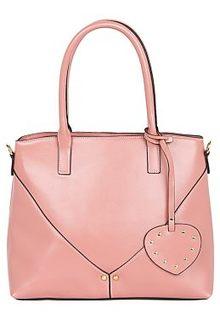Розовая кожаная сумка La Reine Blanche