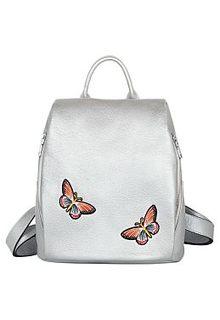 Серебристый рюкзак с нашивками La Reine Blanche