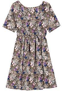 Платье с цветочным принтом La Reine Blanche