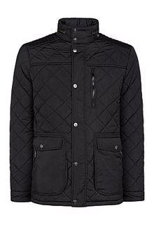 Куртка на синтепоне с отделкой экокожей Jorg Weber