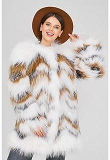 Облегченная шуба из меха енота и чернобурки Virtuale Fur Collection