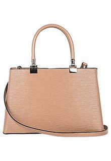 Бежевая сумка из кожи с тиснением La Reine Blanche