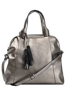 Серебристая сумка из экокожи La Reine Blanche