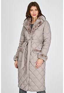 Стеганое пальто с отделкой мехом кролика Acasta
