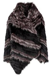 Комбинированная шуба из меха лисы и песца Virtuale Fur Collection