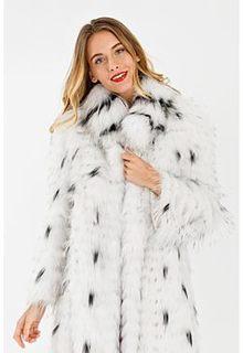 Облегченная шуба из меха енота Virtuale Fur Collection
