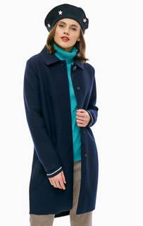Синее шерстяное пальто на кнопках Gerry Weber