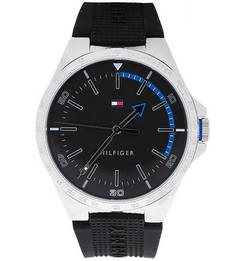 Кварцевые часы с силиконовым ремешком Tommy Hilfiger