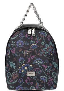 Маленький кожаный рюкзак с цветочным принтом Fiato