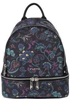 Кожаный рюкзак с цветочным принтом Fiato