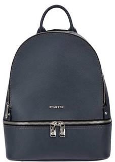 Синий кожаный рюкзак с двумя отделами Fiato