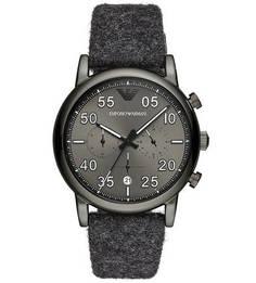 Кварцевые часы с текстильными вставками на браслете Emporio Armani