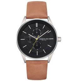 Часы с коричневым кожаным браслетом Dress Sport Kenneth Cole