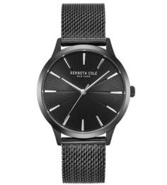 Часы с черный металлическим браслетом Classic Kenneth Cole