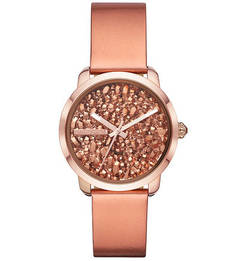 Кварцевые часы с кожаным браслетом Diesel