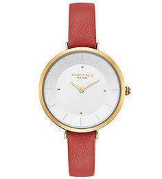 Часы с тонким браслетом из натуральной кожи Classic Kenneth Cole