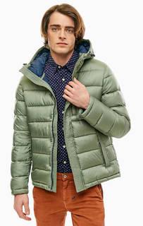 Куртка мятного цвета с капюшоном Pepe Jeans
