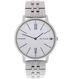 Часы круглой формы с серебристым металлическим браслетом Tommy Hilfiger