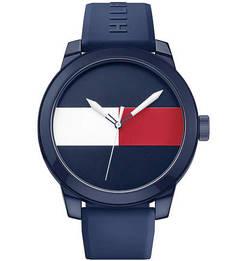 Часы с синим силиконовым ремешком Tommy Hilfiger