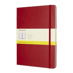 Блокнот Moleskine CLASSIC XLarge 190х250мм 192стр. клетка твердая обложка красный 6 шт./кор.