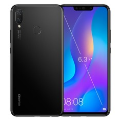 "Смартфон Huawei Nova 3i 64Gb 4Gb черный 3G 4G 2Sim 6.3"" 1080x2340 And8.1 24Mpix 802.11 a/b/g/n/ac BT"
