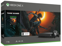 Игровая приставка Microsoft Xbox One X 1Tb Black CYV-00106 + Tomb Raider