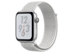 Умные часы APPLEWatch Nike+ Series4 40mm Silver Aluminium Case with Summit White Nike Sport Loop MU7F2RU/A