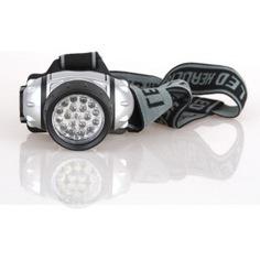 Налобный фонарь ultraflash led 5353 (металлик, 19led, 4 реж, 3xr03, пласт, коробка) 10262