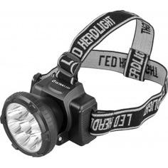 Налобный фонарь ultraflash led 5363 (аккум 220в, черный, 9led, 2 реж, пласт, бокс) 11257
