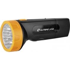 Фонарь ultraflash led3829 (аккум 220в, черн /желт, 9 led, sla, пластик, коробка) 11240