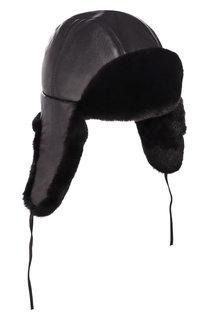 Норковая шапка-ушанка Мишка FurLand