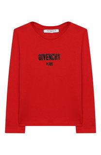 Лонгслив из хлопка и вискозы Givenchy