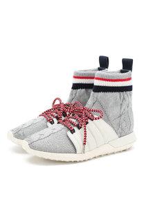 Комбинированные кроссовки Flavie Moncler