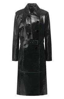 Кожаное пальто с поясом Givenchy