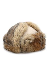 Кашемировая шапка-ушанка Alaskan с меховой отделкой Loro Piana