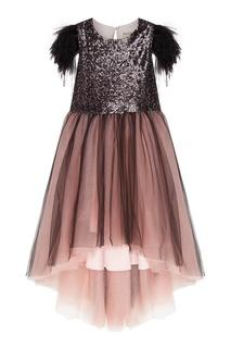 Платье с перьями и пайетками Mystic Balloon and Butterfly