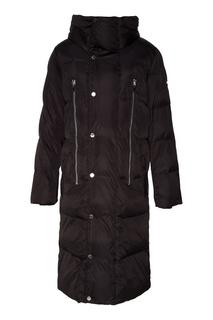 Черное стеганое пальто Papermint
