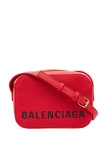 Красная сумка Ville Camera Bag Balenciaga