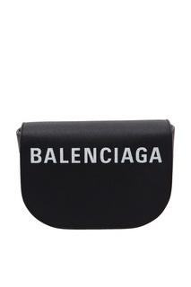 Кожаная сумка с логотипом Ville Day Balenciaga
