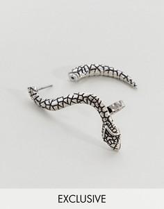 Серебристые серьги Reclaimed Vintage Inspired эксклюзивно для ASOS - Серебряный