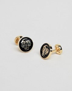 Золотистые запонки Twisted Tailor - Золотой